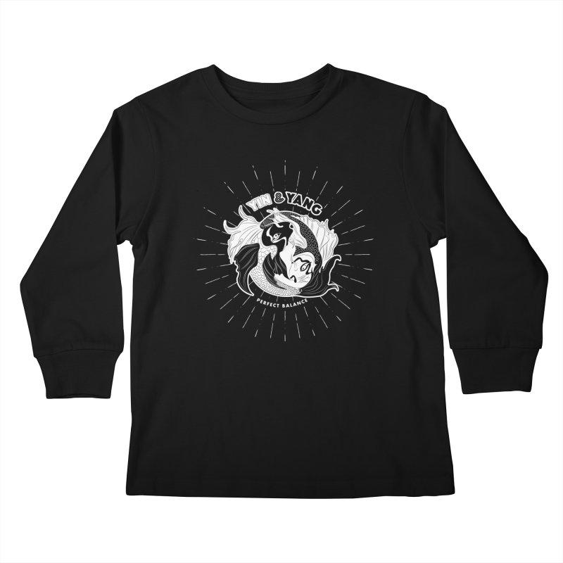 Coy Fish Yin and Yang - Perfect Balance Kids Longsleeve T-Shirt by Moon Bear Design Studio's Artist Shop