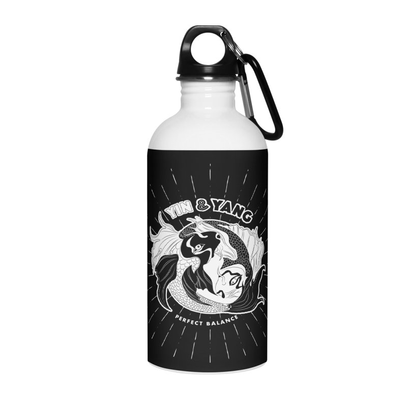 Coy Fish Yin and Yang - Perfect Balance Accessories Water Bottle by Moon Bear Design Studio's Artist Shop