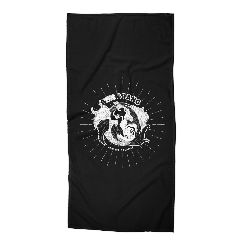 Coy Fish Yin and Yang - Perfect Balance Accessories Beach Towel by Moon Bear Design Studio's Artist Shop