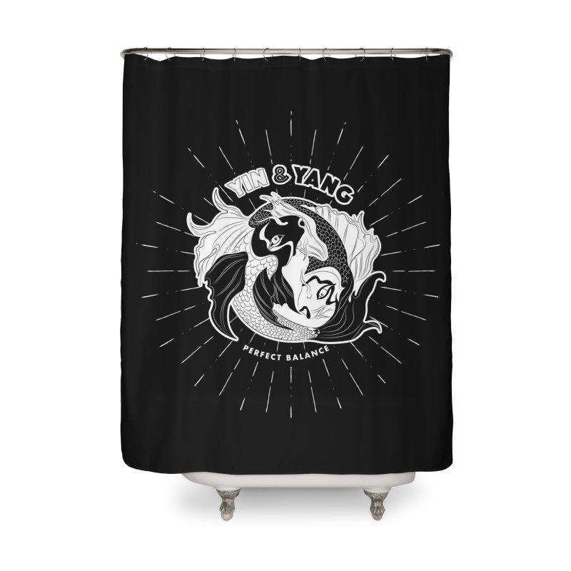 Coy Fish Yin and Yang - Perfect Balance Home Shower Curtain by Moon Bear Design Studio's Artist Shop