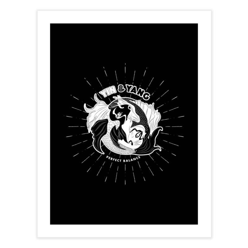 Coy Fish Yin and Yang - Perfect Balance Home Fine Art Print by Moon Bear Design Studio's Artist Shop
