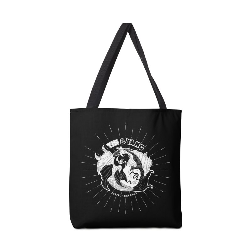 Coy Fish Yin and Yang - Perfect Balance Accessories Tote Bag Bag by Moon Bear Design Studio's Artist Shop