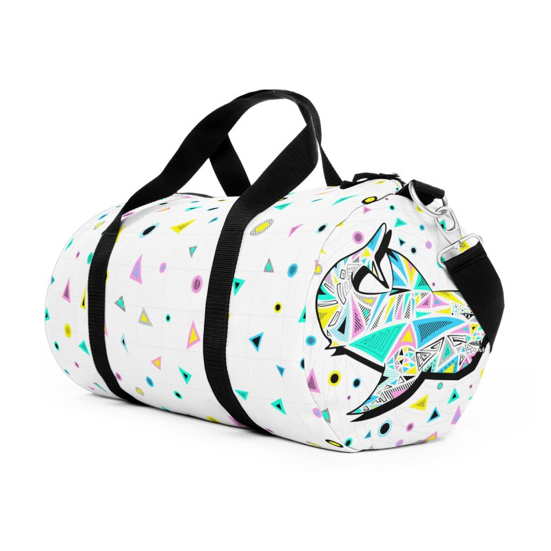 Sharks Rule! - Retro 80s Inspired Accessories Duffel Bag Bag by Moon Bear Design Studio's Artist Shop