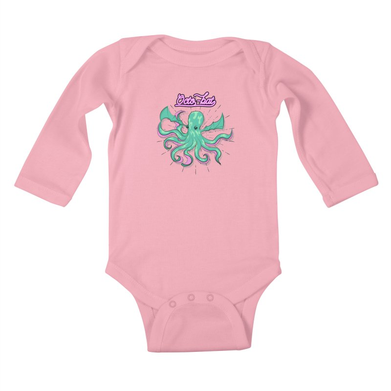 Octobat Kids Baby Longsleeve Bodysuit by Moon Bear Design Studio's Artist Shop