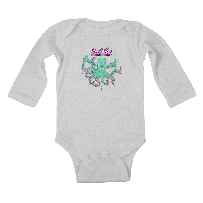 Octobat Kids Baby Longsleeve Bodysuit by Moon Bear Design Studio's Artist Shop