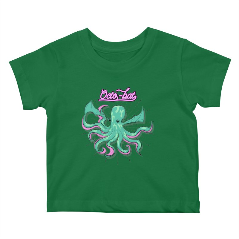 Octobat Kids Baby T-Shirt by Moon Bear Design Studio's Artist Shop