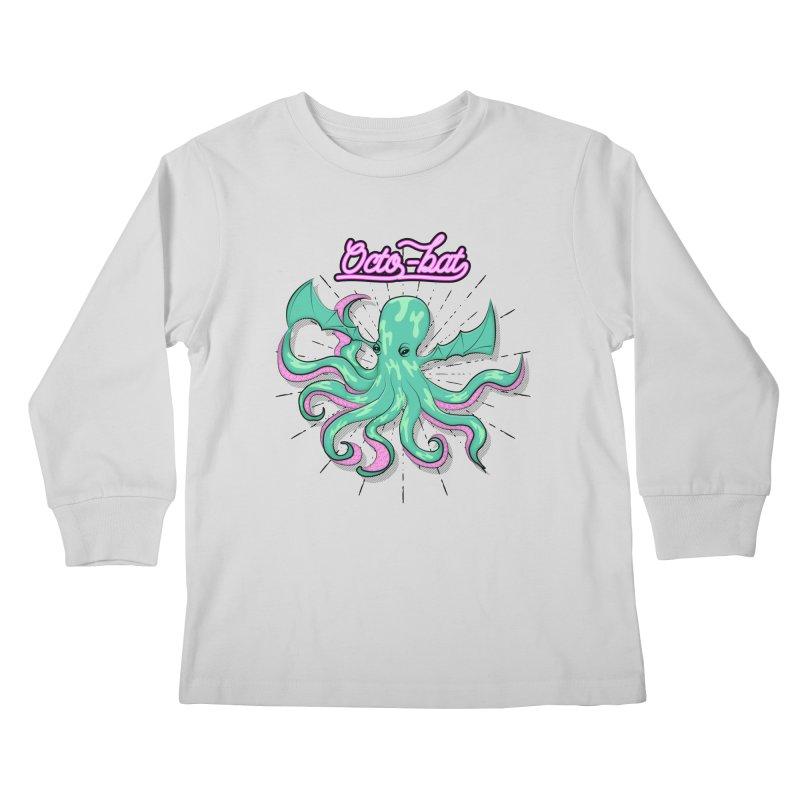 Octobat Kids Longsleeve T-Shirt by Moon Bear Design Studio's Artist Shop