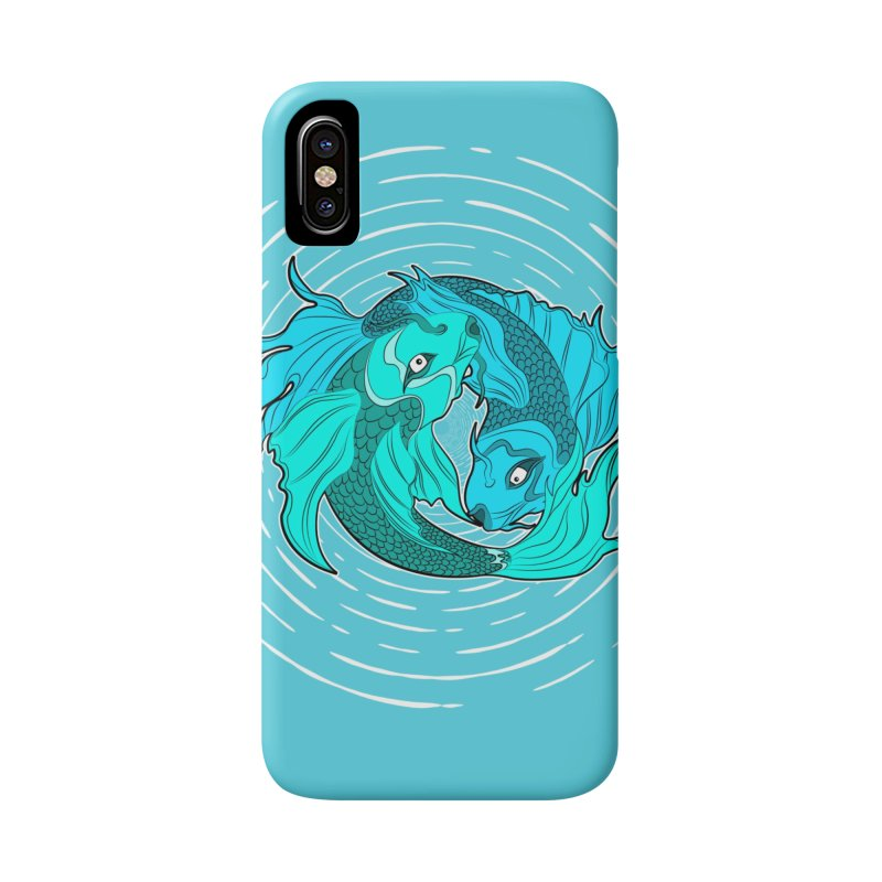 Coy Fish Love Accessories Phone Case by Moon Bear Design Studio's Artist Shop