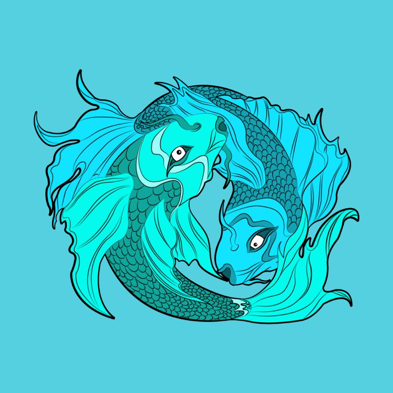 Coy Fish Love by Moon Bear Design Studio's Artist Shop