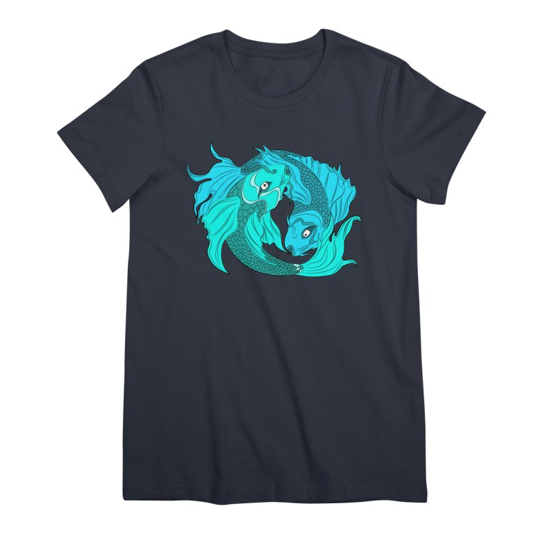 Coy Fish Love Women's Premium T-Shirt by Moon Bear Design Studio's Artist Shop