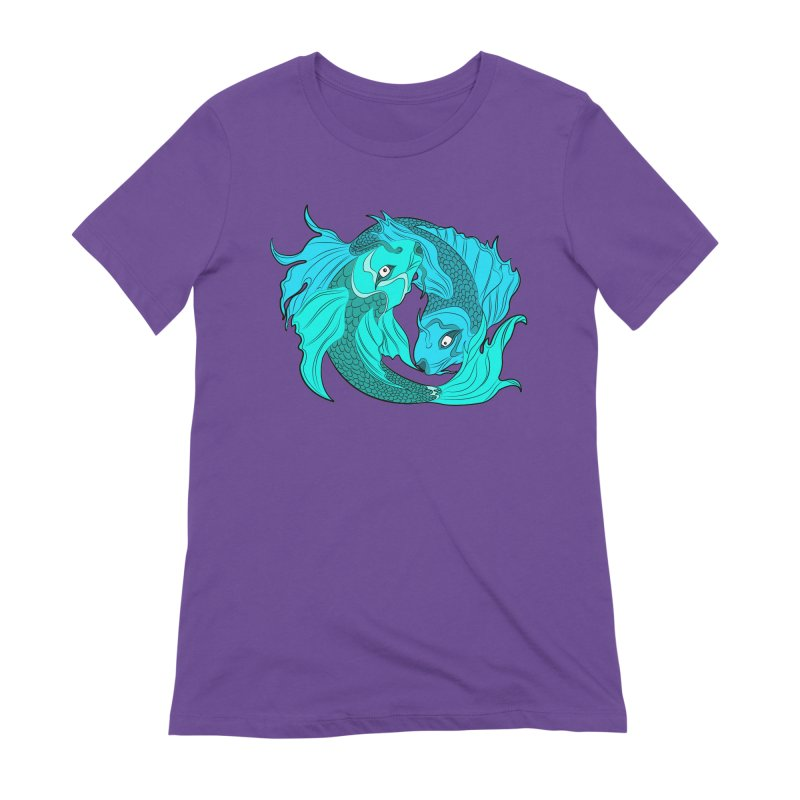 Coy Fish Love Women's Extra Soft T-Shirt by Moon Bear Design Studio's Artist Shop