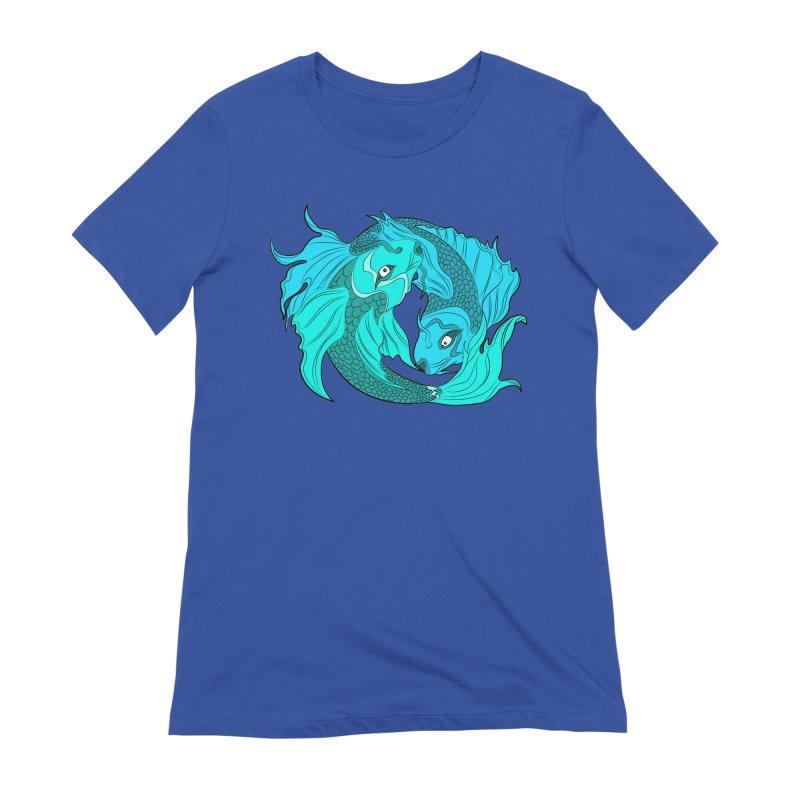 Coy Fish Love Women's Extra Soft T-Shirt by Moon Bear Design Studio's Artist Shop