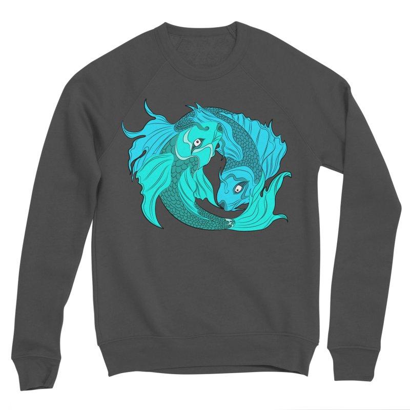 Coy Fish Love Women's Sponge Fleece Sweatshirt by Moon Bear Design Studio's Artist Shop