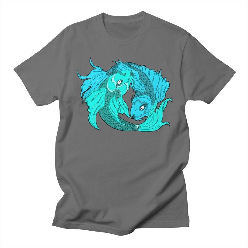 Coy Fish Love Men's T-Shirt by Moon Bear Design Studio's Artist Shop