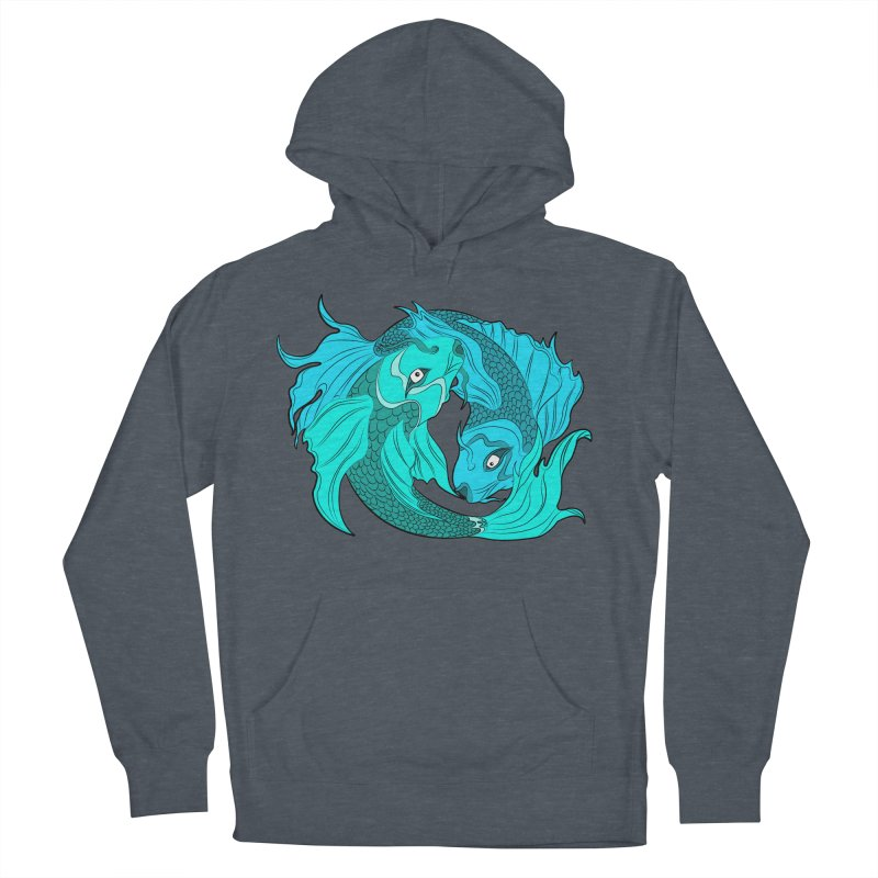 Coy Fish Love Women's French Terry Pullover Hoody by Moon Bear Design Studio's Artist Shop