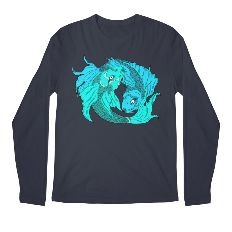 Coy Fish Love Men's Regular Longsleeve T-Shirt by Moon Bear Design Studio's Artist Shop