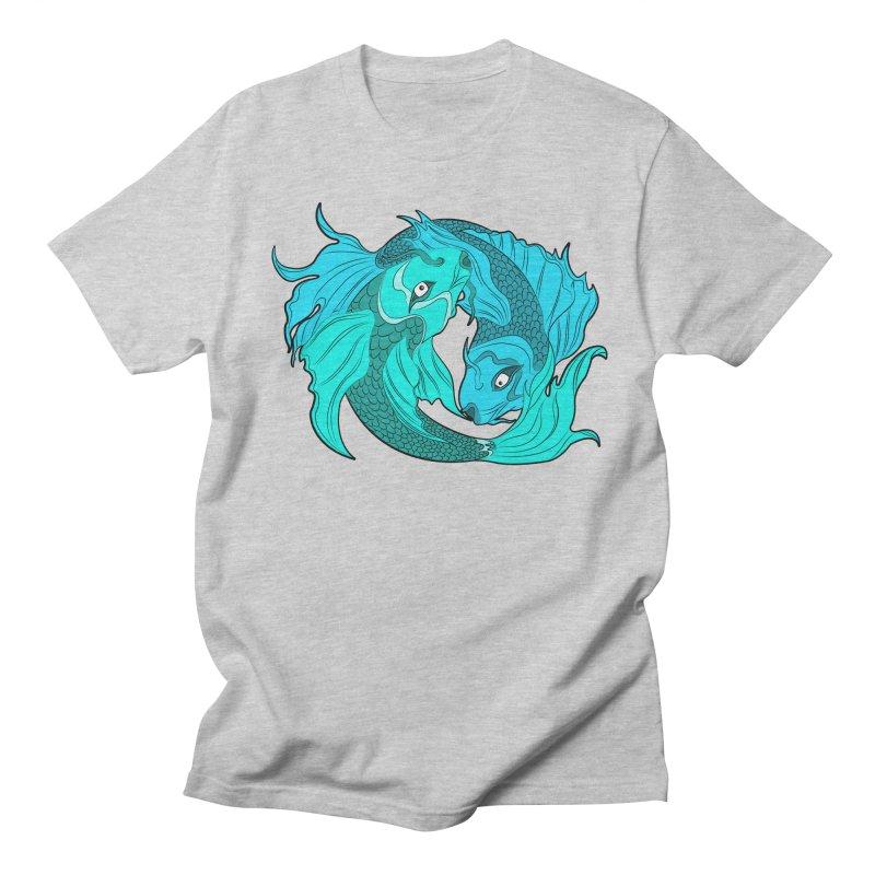 Coy Fish Love Men's Regular T-Shirt by Moon Bear Design Studio's Artist Shop