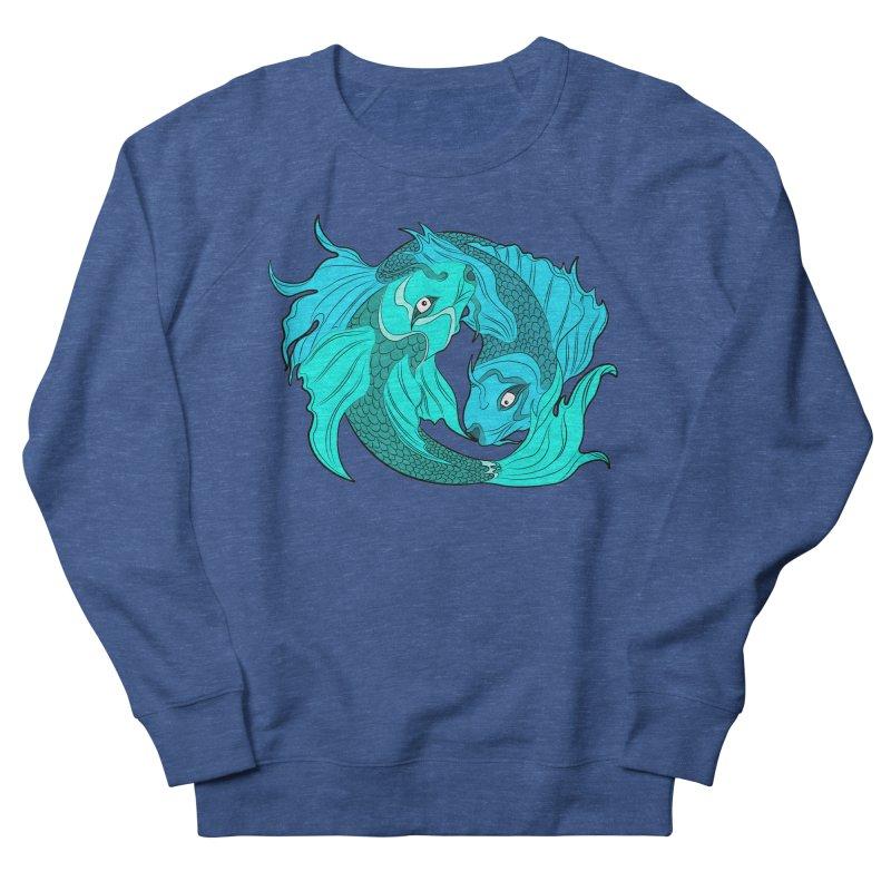 Coy Fish Love Women's French Terry Sweatshirt by Moon Bear Design Studio's Artist Shop