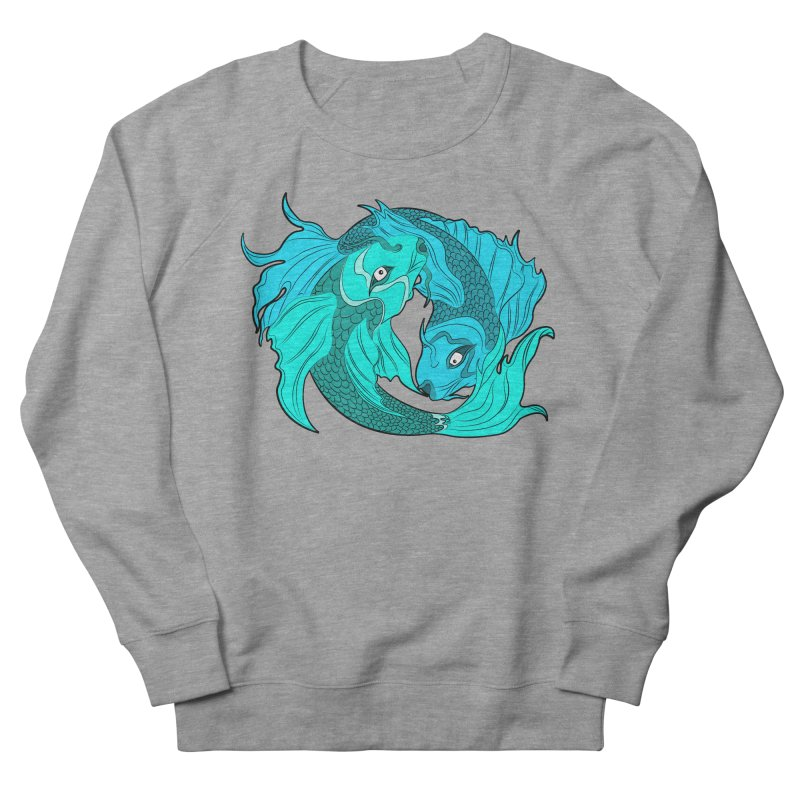 Coy Fish Love Women's French Terry Sweatshirt by Moon Bear Design Studio's Artist Shop