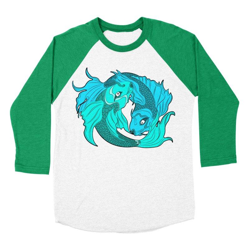 Coy Fish Love Women's Baseball Triblend Longsleeve T-Shirt by Moon Bear Design Studio's Artist Shop