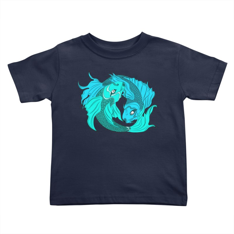 Coy Fish Love Kids Toddler T-Shirt by Moon Bear Design Studio's Artist Shop