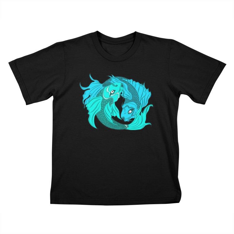 Coy Fish Love Kids T-Shirt by Moon Bear Design Studio's Artist Shop