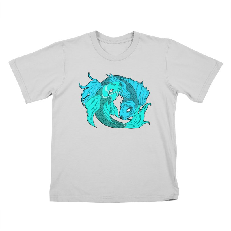 Coy Fish Love Kids T-Shirt by Moon Bear Design Studio's Artist Shop