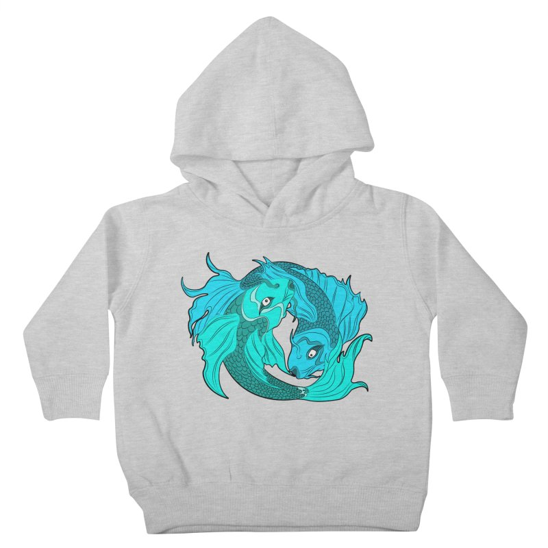 Coy Fish Love Kids Toddler Pullover Hoody by Moon Bear Design Studio's Artist Shop