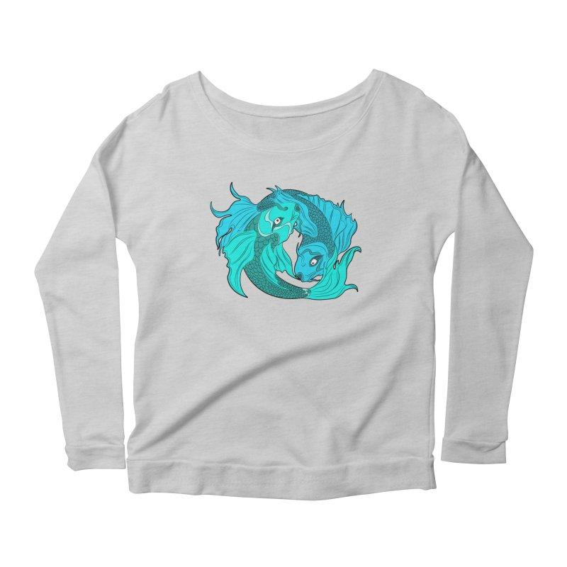 Coy Fish Love Women's Scoop Neck Longsleeve T-Shirt by Moon Bear Design Studio's Artist Shop