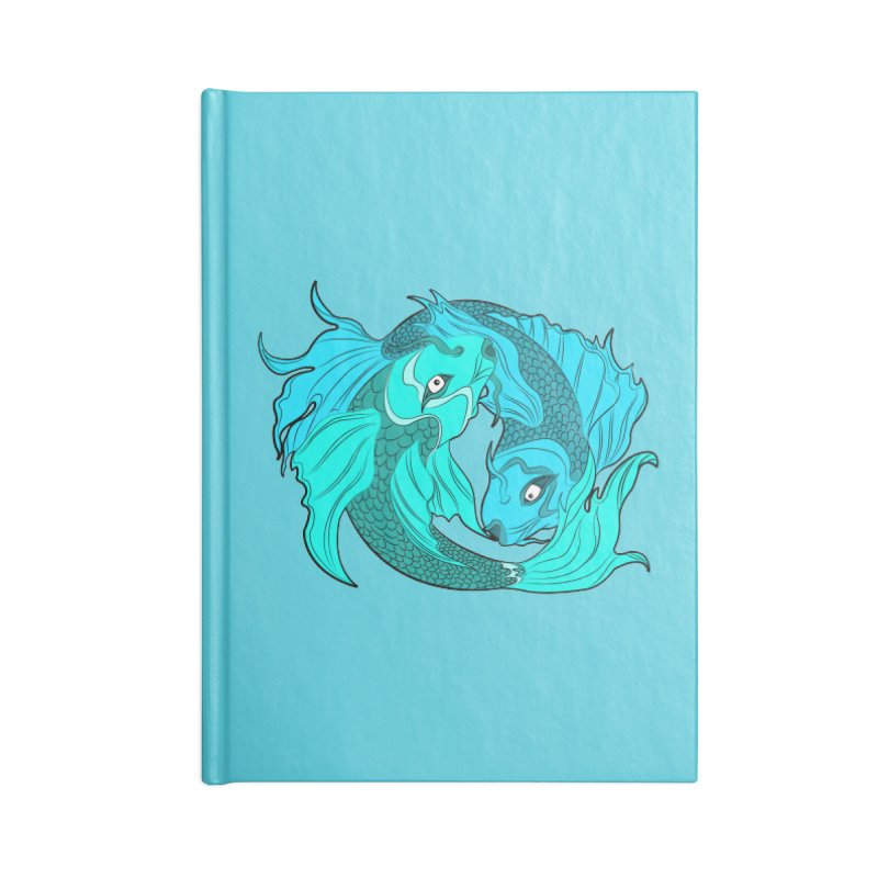 Coy Fish Love Accessories Lined Journal Notebook by Moon Bear Design Studio's Artist Shop