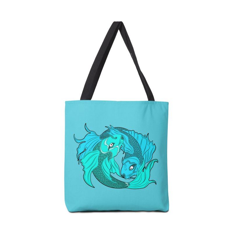 Coy Fish Love Accessories Tote Bag Bag by Moon Bear Design Studio's Artist Shop