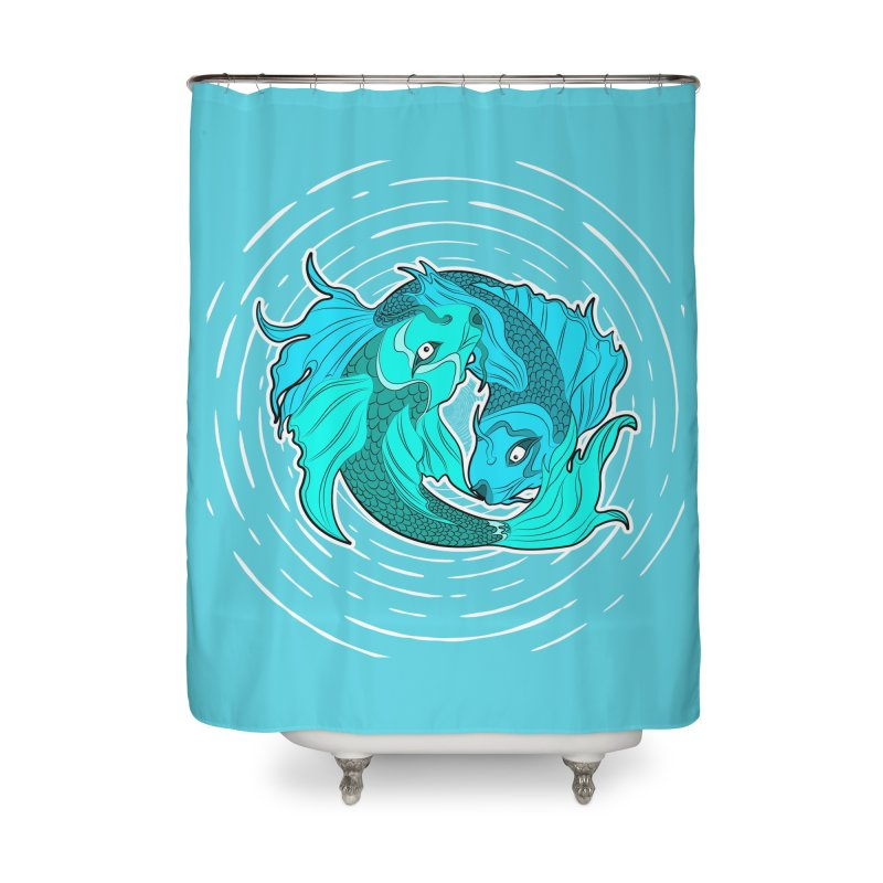 Coy Fish Love Home Shower Curtain by Moon Bear Design Studio's Artist Shop