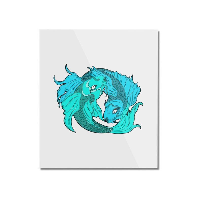 Coy Fish Love Home Mounted Acrylic Print by Moon Bear Design Studio's Artist Shop