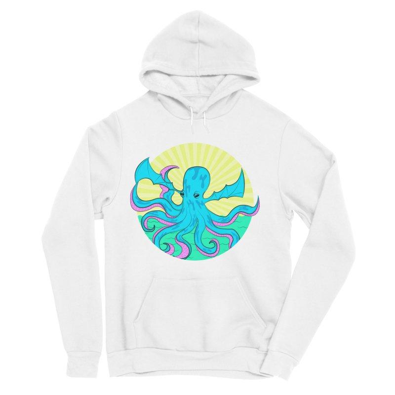 Pop Art Octobat with Sunrays Women's Sponge Fleece Pullover Hoody by Moon Bear Design Studio's Artist Shop