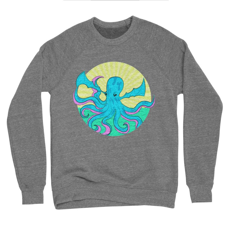 Pop Art Octobat with Sunrays Men's Sponge Fleece Sweatshirt by Moon Bear Design Studio's Artist Shop