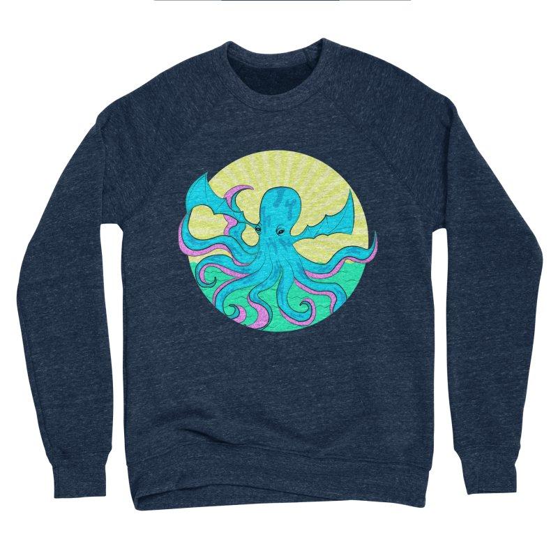 Pop Art Octobat with Sunrays Women's Sponge Fleece Sweatshirt by Moon Bear Design Studio's Artist Shop