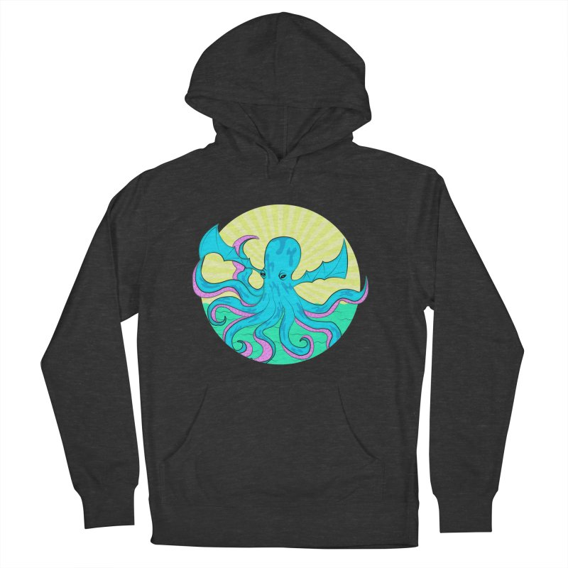 Pop Art Octobat with Sunrays Women's French Terry Pullover Hoody by Moon Bear Design Studio's Artist Shop