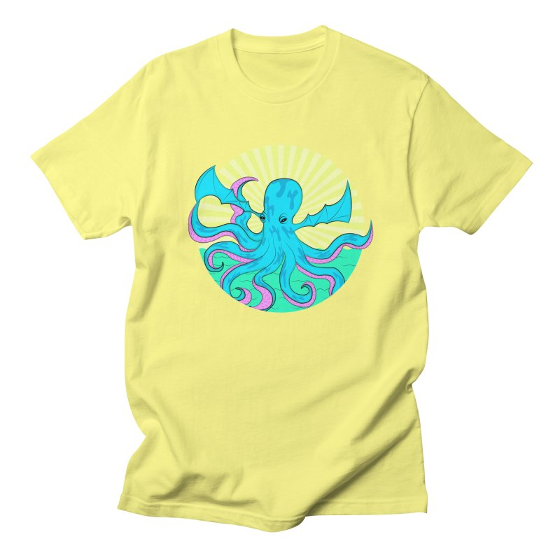 Pop Art Octobat with Sunrays Men's Regular T-Shirt by Moon Bear Design Studio's Artist Shop
