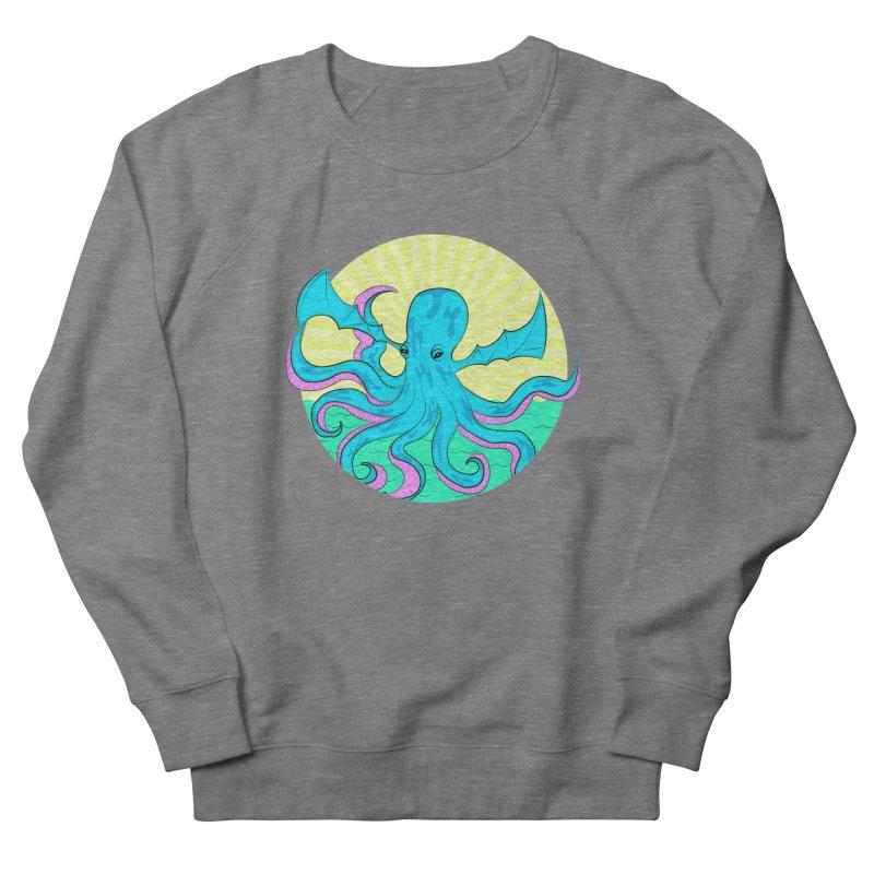 Pop Art Octobat with Sunrays Women's French Terry Sweatshirt by Moon Bear Design Studio's Artist Shop