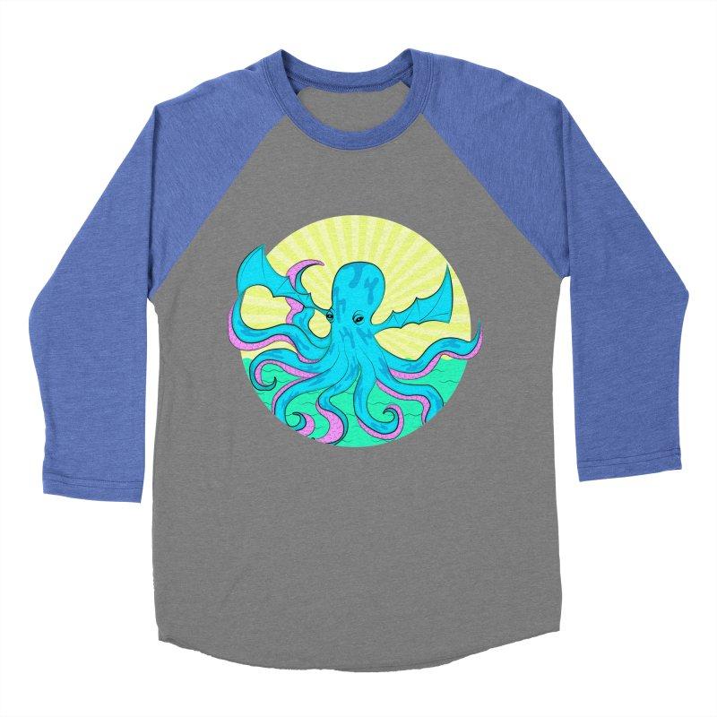 Pop Art Octobat with Sunrays Women's Baseball Triblend Longsleeve T-Shirt by Moon Bear Design Studio's Artist Shop