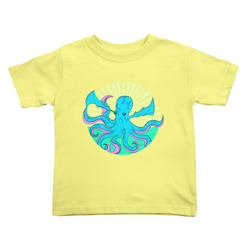 Pop Art Octobat with Sunrays Kids Toddler T-Shirt by Moon Bear Design Studio's Artist Shop