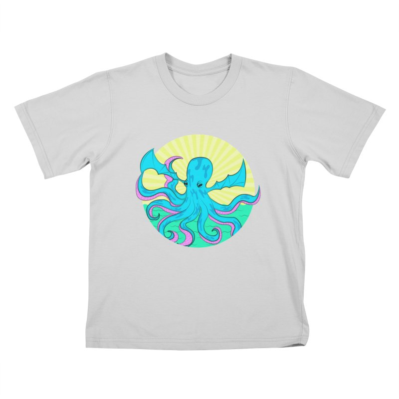 Pop Art Octobat with Sunrays Kids T-Shirt by Moon Bear Design Studio's Artist Shop