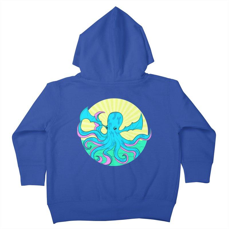 Pop Art Octobat with Sunrays Kids Toddler Zip-Up Hoody by Moon Bear Design Studio's Artist Shop
