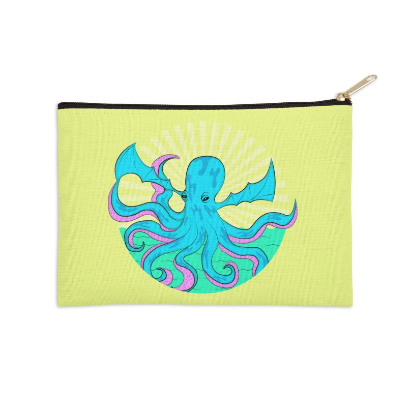 Pop Art Octobat with Sunrays Accessories Zip Pouch by Moon Bear Design Studio's Artist Shop