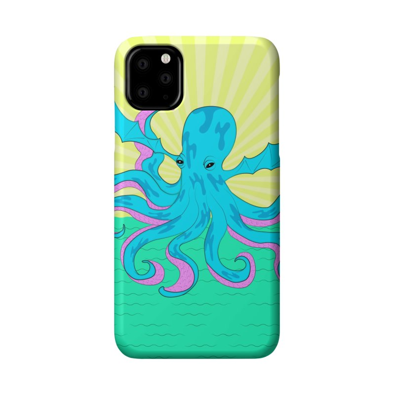 Pop Art Octobat with Sunrays Accessories Phone Case by Moon Bear Design Studio's Artist Shop