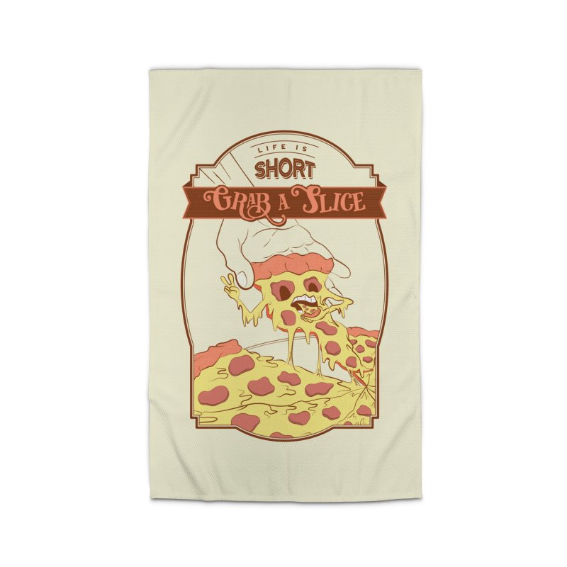 Pizza Love - Life is Short, Grab a Slice Home Rug by Moon Bear Design Studio's Artist Shop