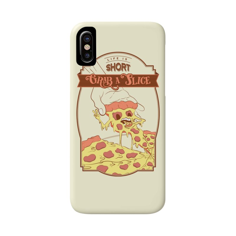 Pizza Love - Life is Short, Grab a Slice Accessories Phone Case by Moon Bear Design Studio's Artist Shop