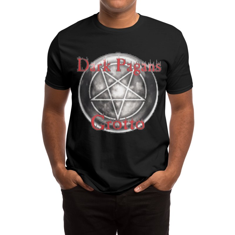 Dark Pagans Grotto Logo LHP Design Men's T-Shirt by Moon Child Pagan