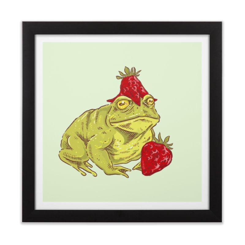 Frogberry Home Framed Fine Art Print by moongerm's Artist Shop