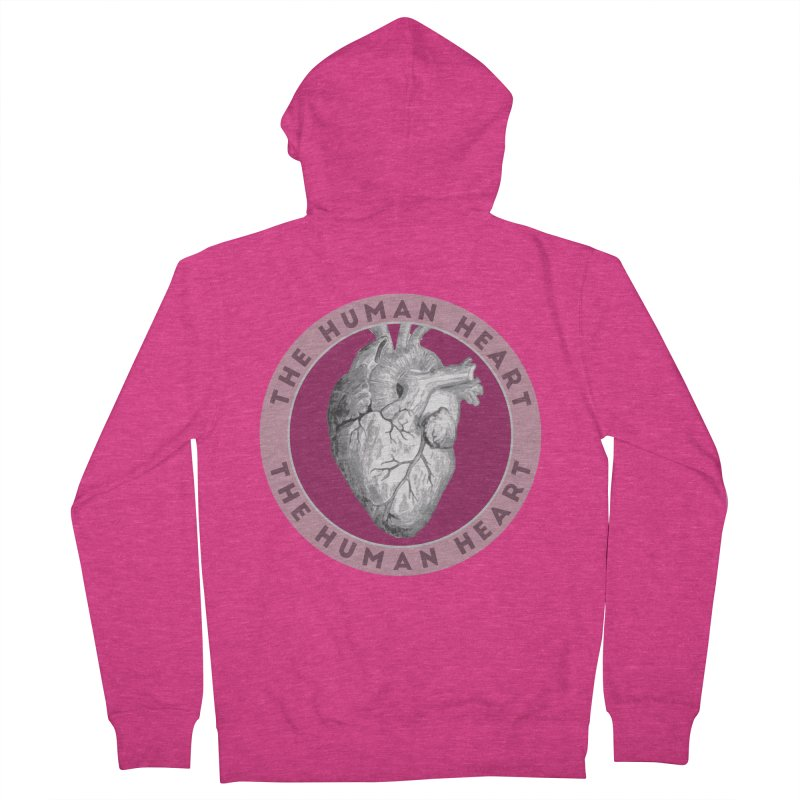 The Human Heart Women's French Terry Zip-Up Hoody by Moon Joggers's Artist Shop